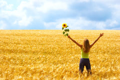 szczęśliwa kobieta wolności Obraz Royalty Free