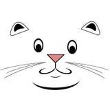 Szczęśliwa kot twarz Obraz Royalty Free