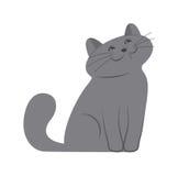 szczęśliwa kotku ilustracji