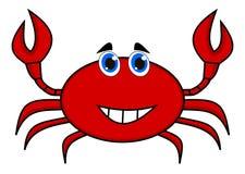 Szczęśliwa krab czerwień Zdjęcie Stock