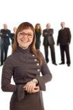 szczęśliwa młoda biznesowa kobieta Fotografia Royalty Free