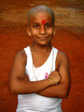 Szczęśliwa młoda Indiańska chłopiec Zdjęcia Royalty Free