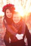 Szczęśliwa młoda para małżeńska Obraz Royalty Free