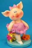 szczęśliwa, mała świnio Obrazy Royalty Free