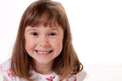 Szczęśliwa mała dziewczynka zdjęcie royalty free