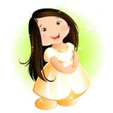 Szczęśliwa mała dziewczynka (azjata) ilustracji