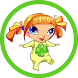 Szczęśliwa mała dziewczynka przychodzi ty Zdjęcia Royalty Free