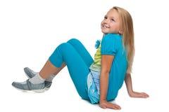 Szczęśliwa mała dziewczynka wyobraża sobie Obraz Royalty Free