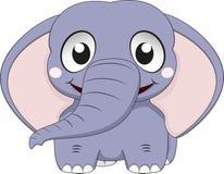 Szczęśliwa Mała słoń pozycja Obraz Stock