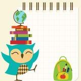 Szczęśliwa mała sowa szkoła - z powrotem Fotografia Stock