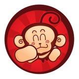 szczęśliwa małpa ilustracja wektor