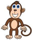 Szczęśliwa małpia pozycja Fotografia Royalty Free