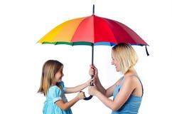 Szczęśliwa mama i córka Obrazy Stock