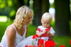 szczęśliwa matka Obraz Royalty Free
