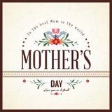 Szczęśliwa matka dnia karta Zdjęcia Royalty Free