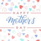 Szczęśliwa matka dnia typografia Obrazy Royalty Free