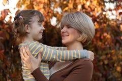 Szczęśliwa matka i córka Zdjęcie Royalty Free