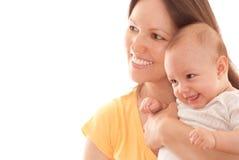 Szczęśliwa matka i dziecko fotografia stock