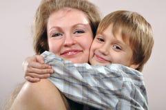 Szczęśliwa matka i syn Fotografia Royalty Free