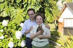 Szczęśliwa matka I syn zdjęcie stock