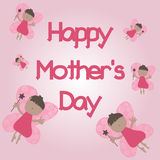 szczęśliwa matka jest dzień Selebration dzień karciana matka s Obraz Royalty Free
