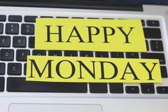 Szczęśliwa moday inskrypcja na klawiaturze Zdjęcie Royalty Free