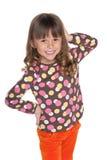 Szczęśliwa mody mała dziewczynka fotografia stock
