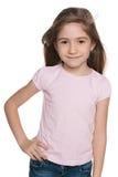 Szczęśliwa mody mała dziewczynka zdjęcia stock