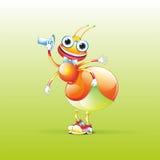 Szczęśliwa mrówka Fotografia Royalty Free