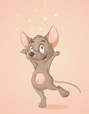 Szczęśliwa mysz Obrazy Royalty Free