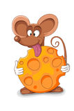 Szczęśliwa myszy kreskówka - wektorowa ilustracja Zdjęcia Stock