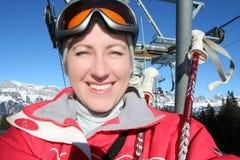 szczęśliwa narciarka Obraz Royalty Free