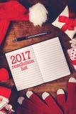 Szczęśliwa Nowa 2017 rok notatka Obrazy Royalty Free