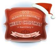 Szczęśliwa nowego roku I sezonów powitań odznaka Fotografia Stock