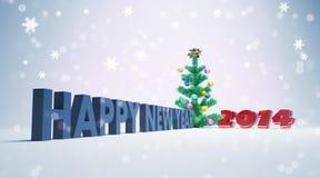 Szczęśliwa nowego roku 2014 karta Zdjęcie Royalty Free