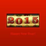 Szczęśliwa nowego roku 2015 karta Obraz Royalty Free