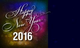 Szczęśliwa nowego roku 2016 karta Fotografia Royalty Free