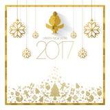 Szczęśliwa nowego roku 2017 karta Zdjęcie Royalty Free