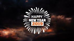 Szczęśliwa nowy rok animacja z fajerwerkami