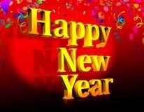 Szczęśliwa nowy rok grafika Obrazy Royalty Free