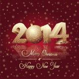 Szczęśliwa nowy rok karta Zdjęcia Royalty Free