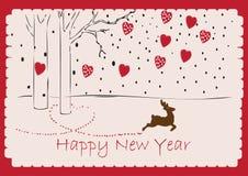 Szczęśliwa nowy rok karta Ilustracji