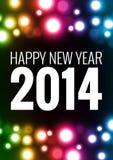 Szczęśliwa nowy rok karta Fotografia Royalty Free