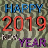 Szczęśliwa nowy rok 2019 tekstura obraz royalty free