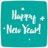Szczęśliwa nowy rok typografia Zdjęcia Stock