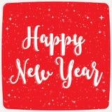 Szczęśliwa nowy rok typografia Zdjęcie Stock