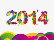 Szczęśliwy nowy rok 2014 Zdjęcia Stock