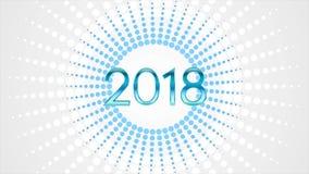 Szczęśliwa 2018 nowy rok wideo animacja ilustracja wektor