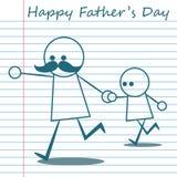 Szczęśliwa ojca dnia kreskówki projekta ilustracja 03 ilustracji