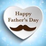 Szczęśliwa ojca dnia wąsy miłość Zdjęcia Stock